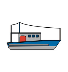 Fishing boat design vector