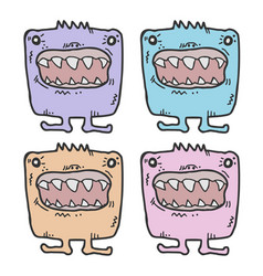 four funny monsters vector image