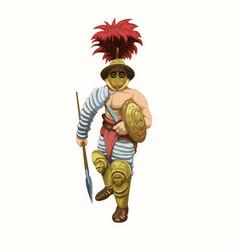 Gladiator hoplamah vector
