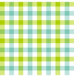 Green blue check tablecloth seamless pattern vector image