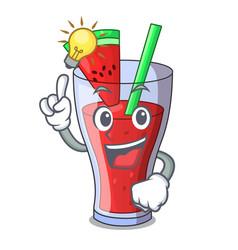 Have an idea fresh watermelon juice isolated on vector