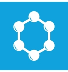 Hexagon connection icon simple vector