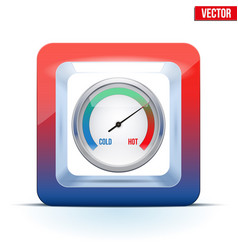 icon of indicator meter of comfort vector image