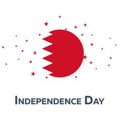Independence day of bahrain patriotic banner vector