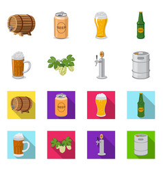 isolated object of pub and bar symbol set of pub vector image