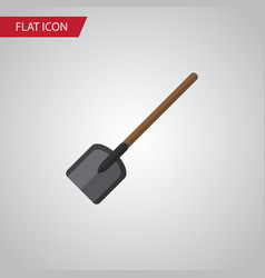 isolated spade flat icon shovel element vector image