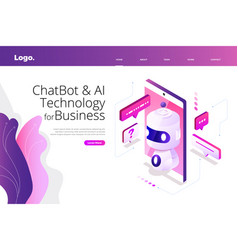 Isometric chatbot technology vector