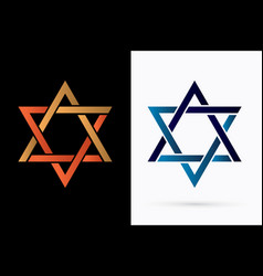 israel star graphic vector image