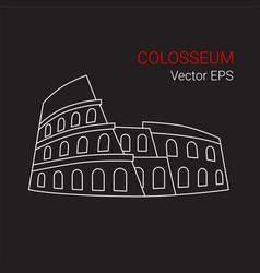 line icon colosseum rome italy vector image