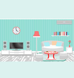 living room interior including furniture air vector image