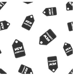 New arrival hang tag seamless pattern background vector