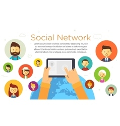 Online chat social network vector