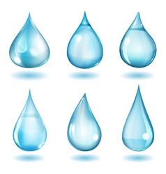Opaque blue drops vector image