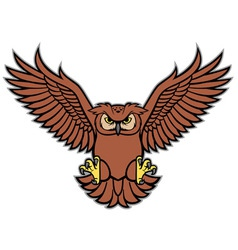 Owl spread wing vector