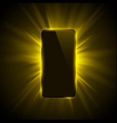 phone cover color design modern yellow background vector image