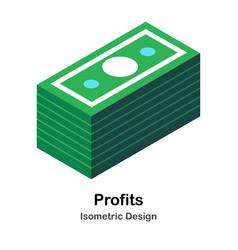 Profits isometric vector