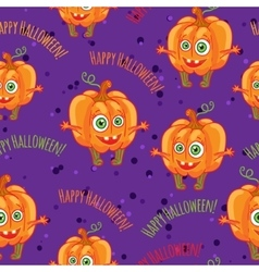 Pumpkins Happy halloween seamless patterns set vector image
