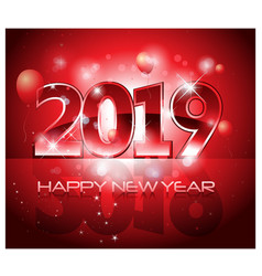 Red 2019 happy new year background vector