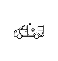 Resuscitation car hand drawn outline doodle icon vector