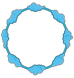Round frame consists of clouds vector image