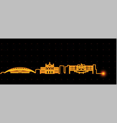 san jose costa rica light streak skyline vector image