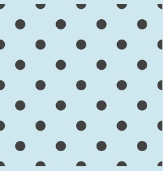 seamless pattern with cute tile black polka dots vector image