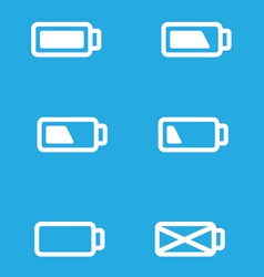 set mobile ui battery icons vector image