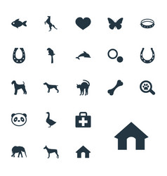 Set simple animals icons vector