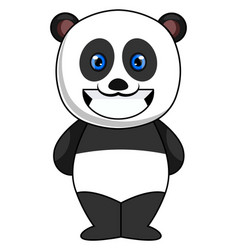 smiling panda on white background vector image