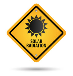 solar radiation sign vector image