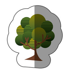 Stamp natural tree icon vector