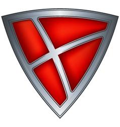 Steel shield with flag denmark vector