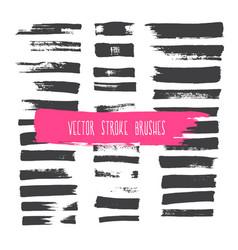 stroke brushes vector image