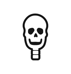 Stylish black and white icon human skull vector