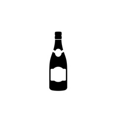 the wine icon bottle symbol flat vector image