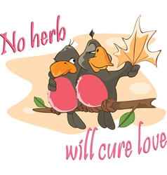 Two Love birds an Adage Postcard vector