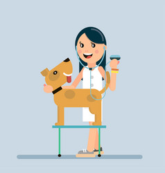 vaccination of dogs from diseases vector image