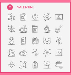 Valentine hand drawn icons set for infographics vector