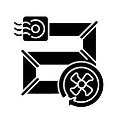 Vent pipes black glyph icon vector