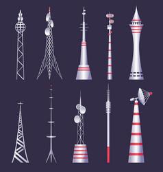 wireless tower tv radio network communication vector image