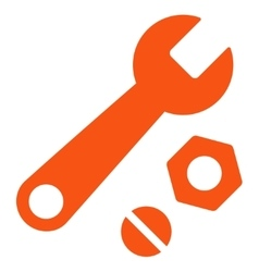 Wrench and nuts icon vector