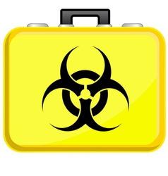 Bag with biohazard symbol vector image vector image