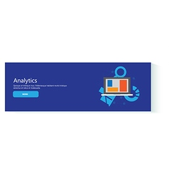 banner analytics vector image