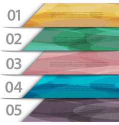 Colorful paper numbered banners vector image vector image