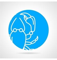 Crayfish round icon vector image