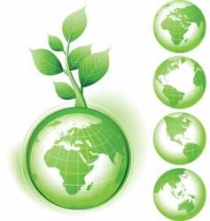 earth symbol vector image vector image