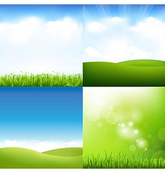 Grass And Sky Set vector image vector image