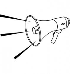 megaphone illustration vector image