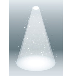 snow falling in spotlight vector image vector image