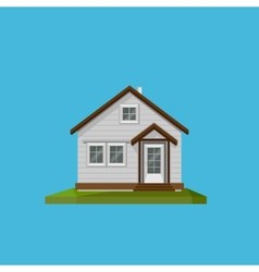 a cartoon house in in flat polygonal style vector image vector image
